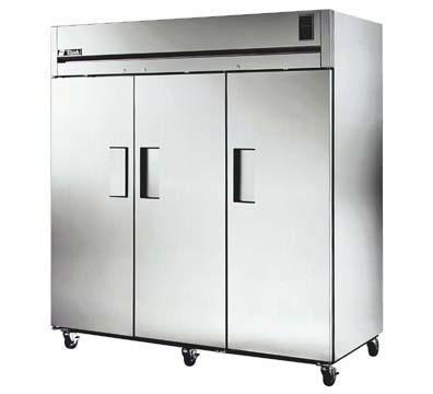 True TR3F-3S Freezer, Reach-In, 3 Section/SS Doors, 85 cu ft