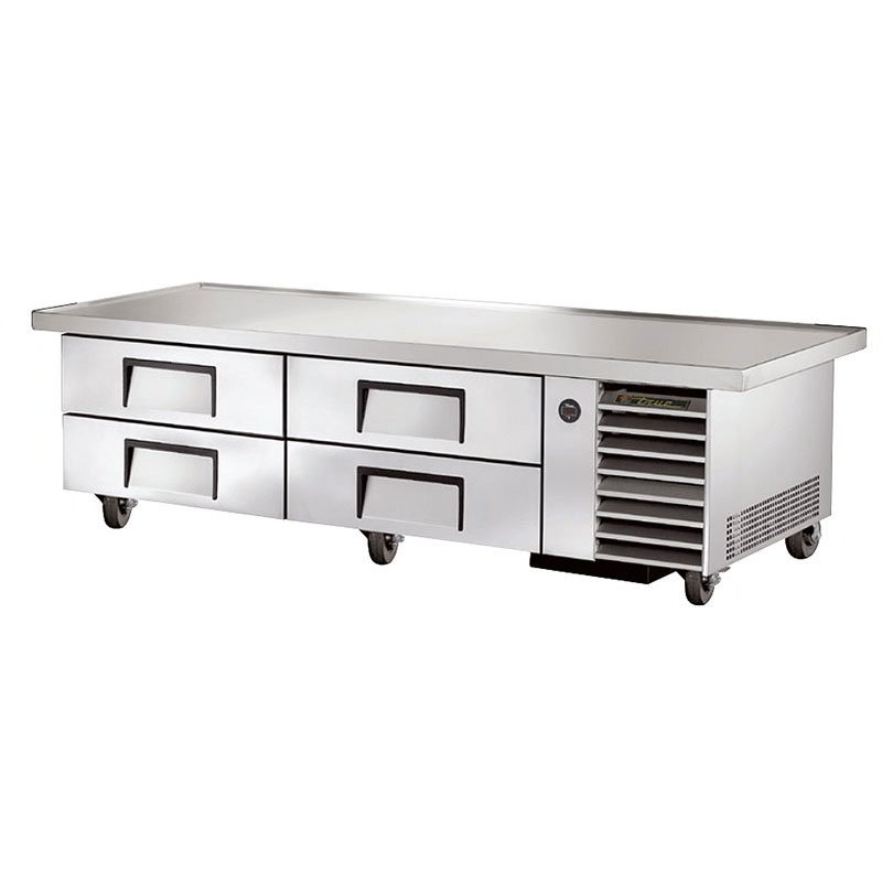 "True TRCB-79-86 86"" Chef Base w/ (4) Drawers - 115v"