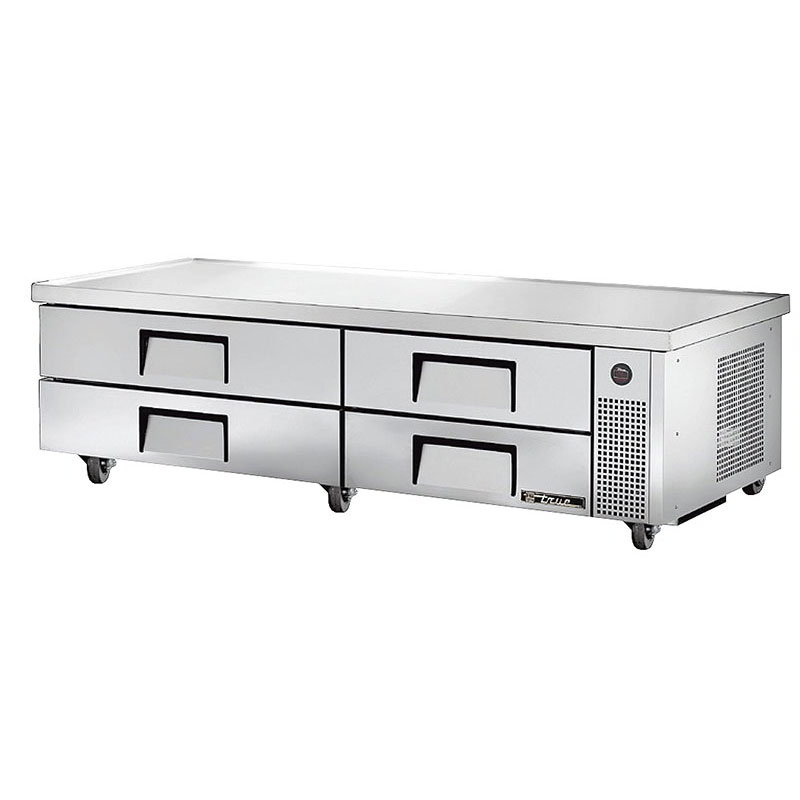 "True TRCB-82-84 84"" Chef Base w/ (4) Drawers - 115v"