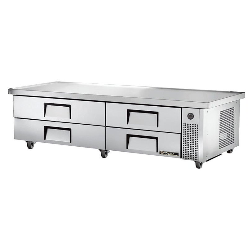 "True TRCB-82-86 86"" Chef Base w/ (4) Drawers - 115v"