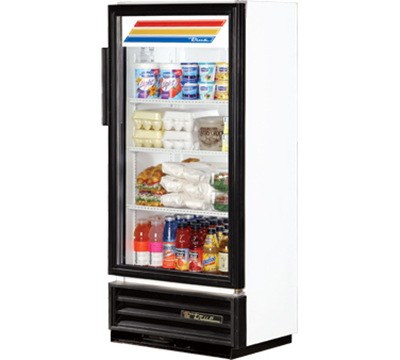"True GDM-10SSL-LD 25"" One-Section Refrigerated Display w/ Swing Door, Bottom Mount Compressor, 115v"