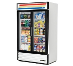 "True GDM-43-LD 47.13"" Two-Section Refrigerated Display w/ Swing Doors, Bottom Mount Compressor, 115v"