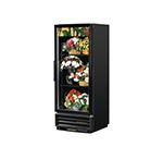 True GDM-12FC-LD 1-Section Floral Cooler w/ Swinging Door - Black, 115v