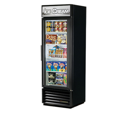 "True GDM-19T-F-LD 27"" One-Section Display Freezer w/ Swinging Door - Bottom Mount Compressor, 115v"
