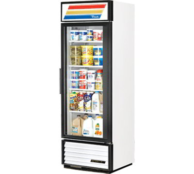 """True GDM-19T-LD 27"""" One-Section Refrigerated Display w/ Swing Door, Bottom Mount Compressor, White, 115v"""