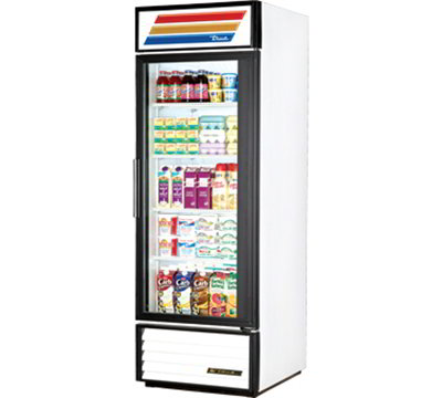 "True GDM-23-LD 27"" One-Section Refrigerated Display w/ Swing Door, Bottom Mount Compresser,115v"