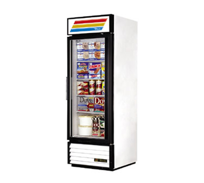 "True GDM-23F-LD 27"" One-Section Display Freezer w/ Swinging Door - Bottom Mount Compressor, 115v"