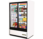 "True GDM-33CPT-LD 39.5"" Two-Section Refrigerated Display w/ Sliding Doors, Bottom Mount Compressor, 115v"