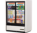 """True GDM-33CPT-54-LD 40"""" Two-Section Refrigerated Display w/ Sliding Doors, Bottom Mount Compressor, 115v"""