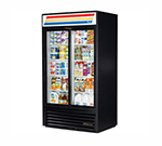 "True GDM-37-LD 43.5"" Two-Section Refrigerated Display w/ Sliding Doors - Bottom Mount Compressor, 115v"