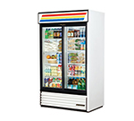 "True GDM-41-LD 48"" Two-Section Refrigerated Display w/ Sliding Doors, Bottom Mount Compressor, 115v"
