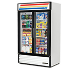 "True GDM-43-LD 48"" Two-Section Refrigerated Display w/ Swing Doors, Bottom Mount Compressor, 115v"