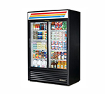 "True GDM-45-LD 52"" Two-Section Refrigerated Display w/ Sliding Doors, Bottom Mount Compressor, 115v"