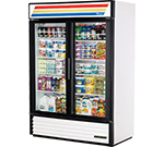 "True GDM-49-LD 55"" Two-Section Refrigerated Display w/ Swing Doors, Bottom Mount Compressor, 115v"