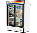 "True GDM-49RL-LD 55"" Two-Section Refrigerated Display w/ Swing Doors, Bottom Mounted Compressor, 115v"