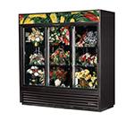 True GDM-69FC-LD 3-Section Floral Cooler w/ Sliding Door - White, 115v