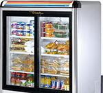 "True GDM-9-S-LD 36"" Countertop Refrigeration w/ Front Access, Sliding Door, Stainless, 115v"