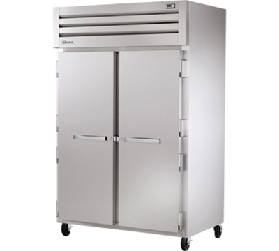 """True STG2F-2S 52.63"""" Two Section Reach-In Freezer, (2) Solid Doors, 115v"""