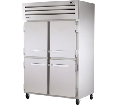 "True STG2F-4HS 52.63"" Two Section Reach-In Freezer, (4) Solid Doors 115v"