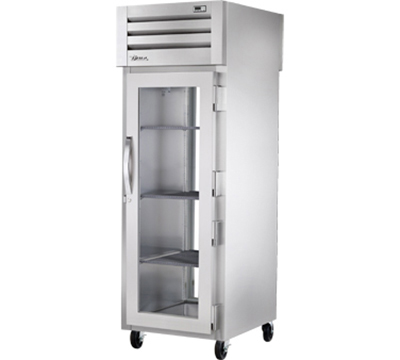 "True STR1RPT-1G-1G 28"" Single Section Reach-In Refrigerator, (1) Glass Door, 115v"
