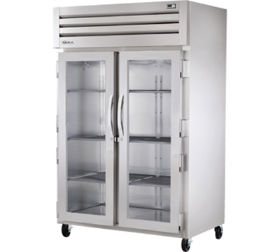 "True STA2R-2G 52.63"" Two Section Reach-In Refrigerator, (2) Solid Door, 115v"