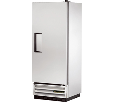 "True T-12F 24.88"" Single Section Reach-In Freezer, (1) Solid Door, 115v"