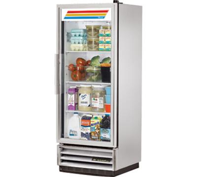 """True T-12G 25"""" Single Section Reach-In Refrigerator, (1) Glass Door, 115v"""