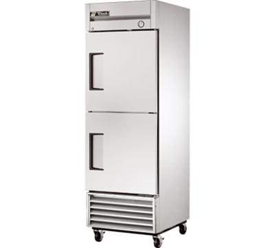 """True T-23-2 27"""" Single Section Reach-In Refrigerator, (2) Solid Door, 115v"""