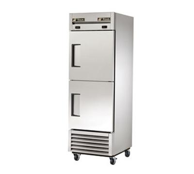 """True T-23DT 27"""" One Section Commercial Refrigerator Freezer - Solid Doors, Bottom Compressor, 115v"""