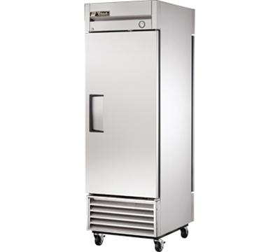 """True T-23PT 27"""" Single Section Pass-Thru Refrigerator, (1) Solid Door, 115v"""