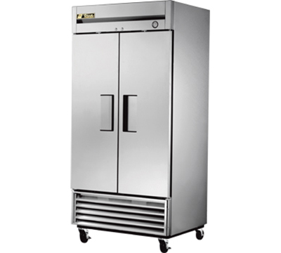 "True T-35F 39.5"" Two Section Reach-In Freezer, (2) Solid Doors, 115v"