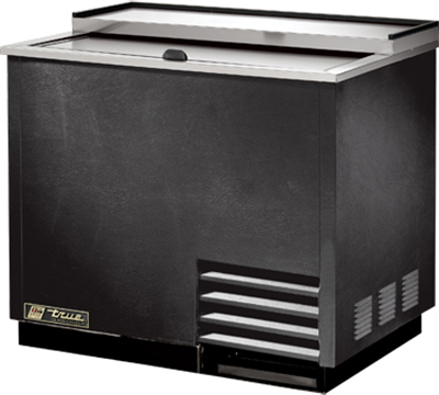 True T-36-GC 1-Section Glass Chiller w/ 180-Mug Capacity, Black, 115v