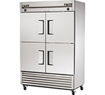 "True T-49DT-4 55"" Two Section Commercial Refrigerator Freezer - Solid Doors, Bottom Compressor, 115v"
