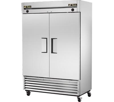 True T-49DT 46-cu ft Two Section Commercial Refrigerator Freezer - Solid Doors, Bottom Compressor, 115v