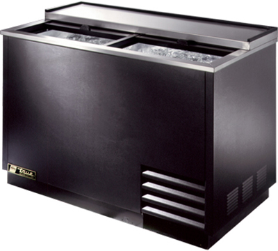 True T-50-GC 2-Section Glass Chiller w/ 250-Mug Capacity, Black, 115v