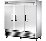"True T-72 78.13"" Three Section Reach-In Refrigerator, (3) Solid Door 115v"