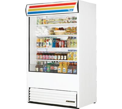 "True TAC-48-LD 48"" Vertical Open Air Cooler w/ (5) Levels, 208-230v/1ph"