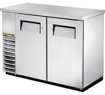 """True TBB-24-48-S 48"""" (2) Section Bar Refrigerator - Swinging Solid Doors, 115v"""