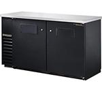 """True TBB-24-60 60"""" (2) Section Bar Refrigerator - Swinging Solid Doors, 115v"""