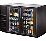 "True TBB-24GAL-48G-LD 48"" (2) Section Bar Refrigerator - Swinging Glass Doors, 115v"