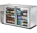"True TBB-24GAL-60G-S-LD 60"" (2) Section Bar Refrigerator - Swinging Glass Doors, 115v"