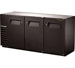 """True TBB-24GAL-72 72"""" (3) Section Bar Refrigerator - Swinging Solid Doors, 115v"""