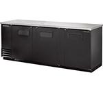 """True TBB-4 90"""" (3) Section Bar Refrigerator - Swinging Solid Doors, 115v"""