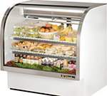 "True TCGG-48 WHT 48"" Full Service Deli Case w/ Curved Glass - (3) Levels, White, 115v"