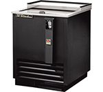 "True TD-24-7 24"" Forced Air Bottle Cooler - Holds (108) 12-oz Bottles, Lid Lock, 115v"