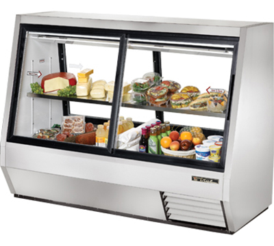 "True TDBD-72-4 72"" Full Service Deli Case w/ Straight Glass - (2) Levels, 115v"