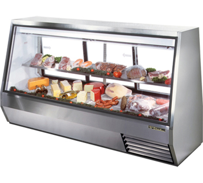 "True TDBD-96-3 96"" Full Service Deli Case w/ Straight Glass - (2) Levels, 115v"