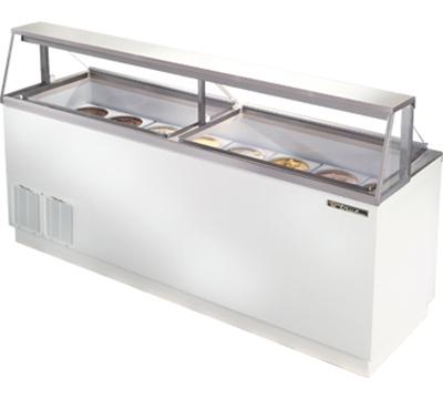 """True TDC-87 88.63"""" Stand Alone Ice Cream Freezer w/ 16-Tub Capacity & 12-Storage, 115v"""