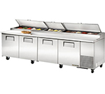 "True TPP-119 119"" Pizza Prep Table w/ Refrigerated Base, 115v"