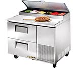"True TPP-44D-2 44.5"" Pizza Prep Table w/ Refrigerated Base, 115v"